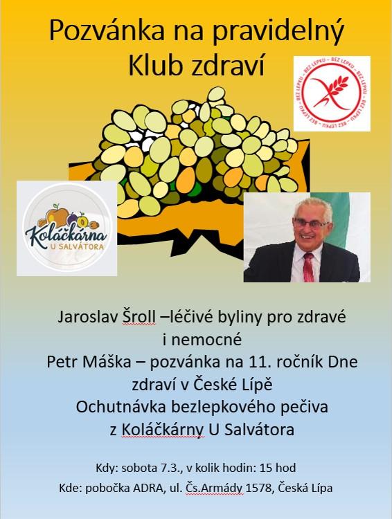 Pozvánka Klub zdraví 7.3.